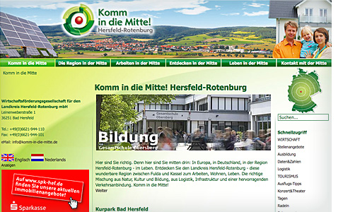 Komm in die Mitte Website