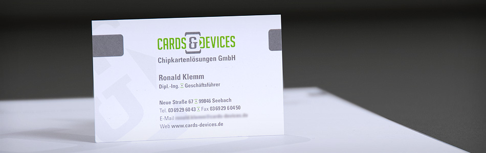 Corporate Design – CARDS & DEVICES Chipkartenlösungen GmbH