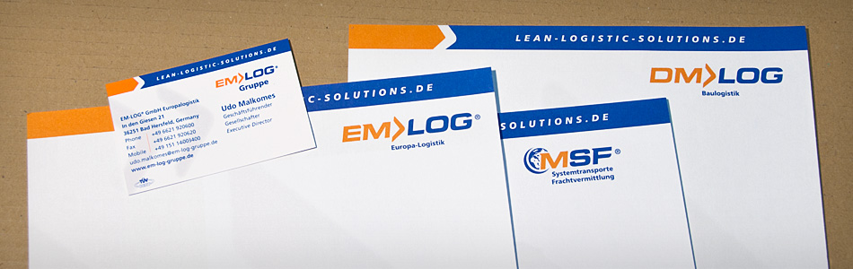 Corporate Design – EM-LOG® Gruppe