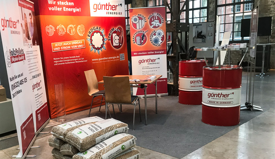Corporate Design – V.W. Günther Mineralöhandelsgesellschaft mbH – Messestand