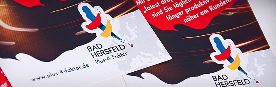 Corporate Design – Standortkampagne der Kreisstadt Bad Hersfeld – Plus-4-Faktor
