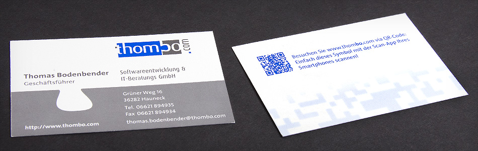 Corporate Design – thombo – Softwareentwicklung & IT-Beratungs GmbH