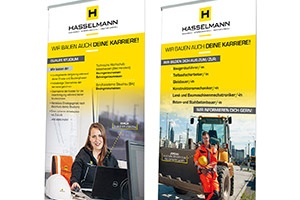 Printdesign – Hasselmann GmbH – Roll-Up-Banner