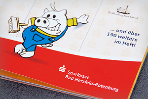Printdesign – Sparkasse Bad Hersfeld-Rotenburg – Earnie-Partnerheft