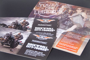 Printdesign – Tours of Legends – Rock'n'Roll City-Touren Folder